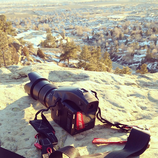 My Phase One and Vulture Equipment A4 strap on assignment with me in Montana