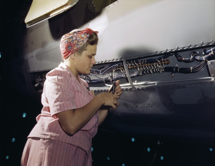 With_careful_Douglas_training,_women_do_accurate_electrical_assembly_and_installation_work,_Douglas_Aircraft_Company,_Long_Beach,_Ca
