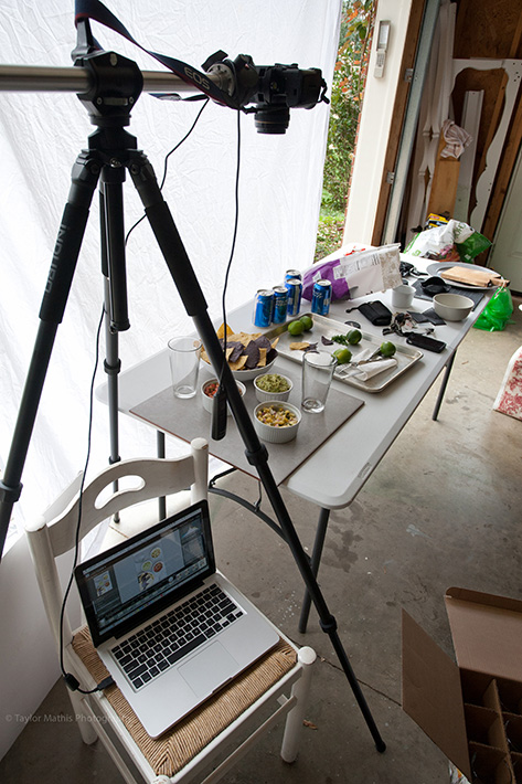 flat lay photo being created