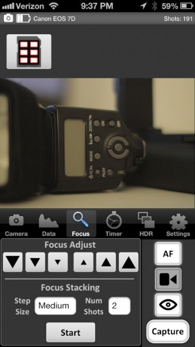 iPhone autofocus adjust