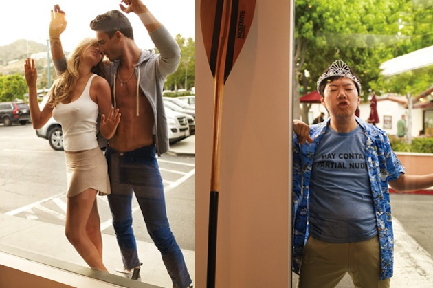 ken-jeong-photobombs-kate-upton-in-gqs-slim-corduroy-pants-fashion-shoot-04