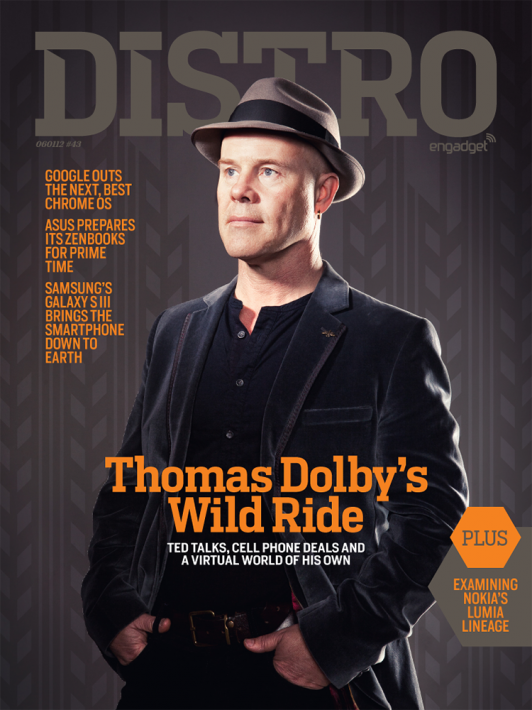 Thomas Dolby: Magazine cover and interior portrait in less than 10 minutes. Setup a studio in the venue