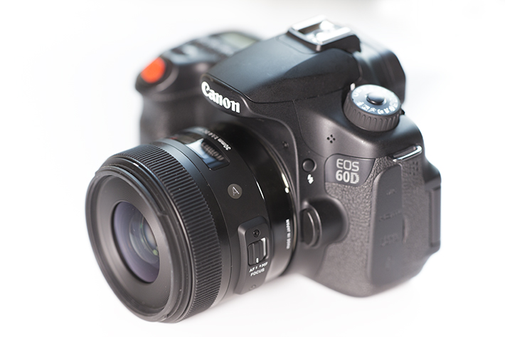 example of size 30mm f1.4 sigma