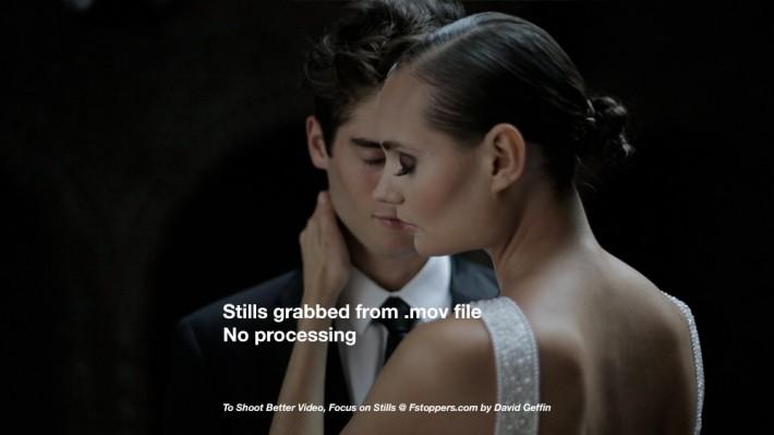 bridal fashion videograb video comparison