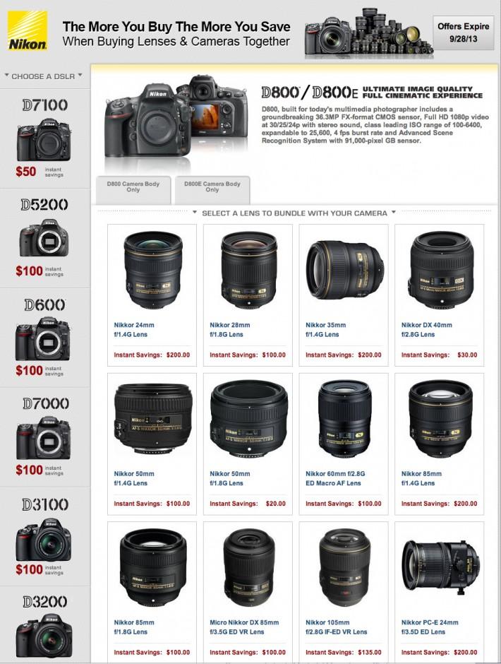 Nikon Rebates September 2013 Full Page