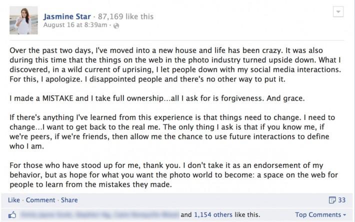 Fstoppers Jasmine Open Letter Apology 4