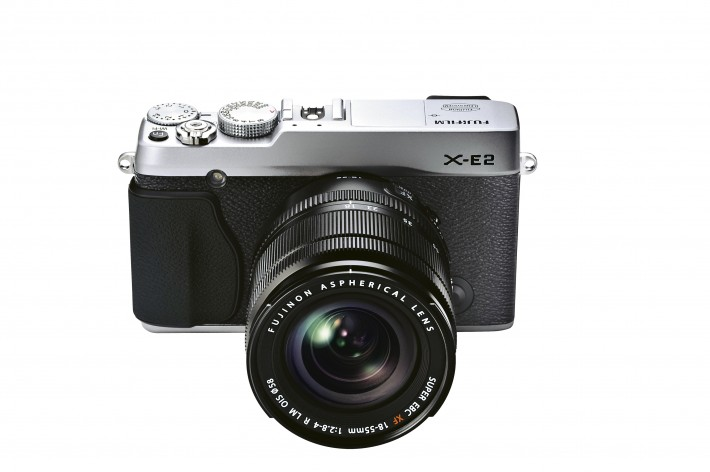 Fstoppers_DavidGeffin_gear_news_Fuji_X-E2_Silver_Front_High_angle_18-55mm.jpg