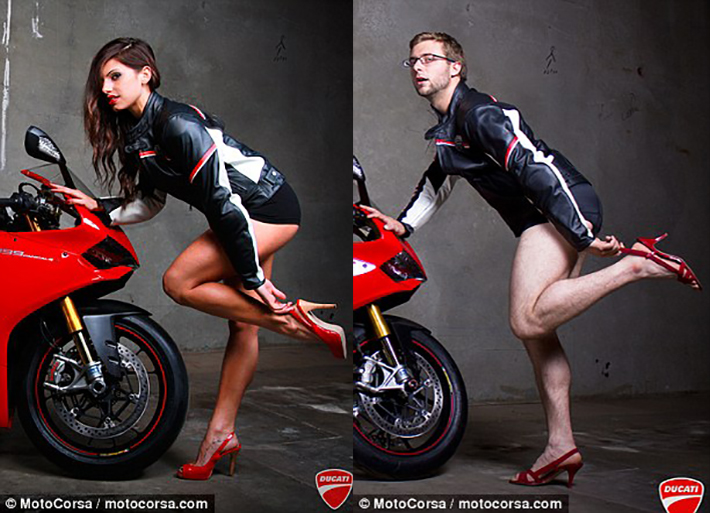 All Male Motorcycle Dealership Mocks Adverts With Their