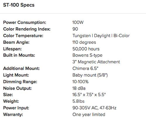 fstoppers-strahlen-LED-specs