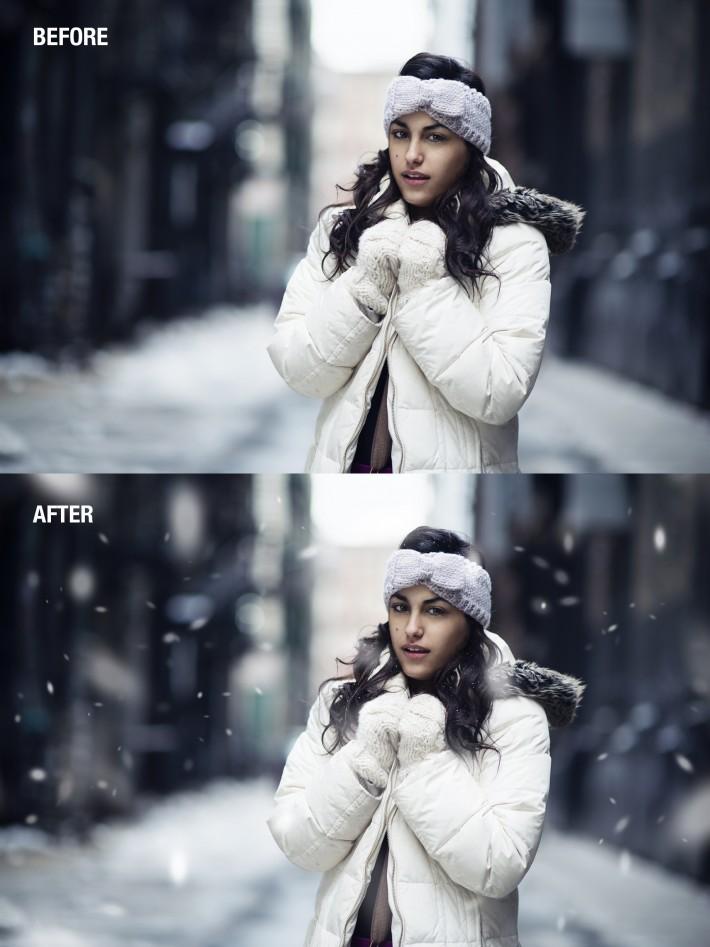 HOW TO ADD SNOW FSTOPPERS PHOTOSHOP DANI DIAMOND