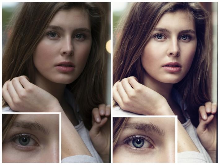 contrast dani diamond female model girl fstoppers nyc nikon d800 portrait bokeh eyes
