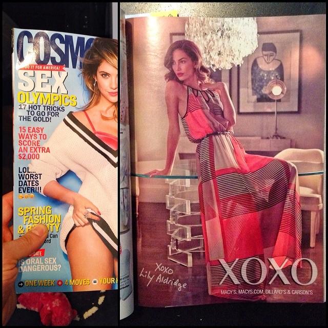 In Cosmopolitan Magazine