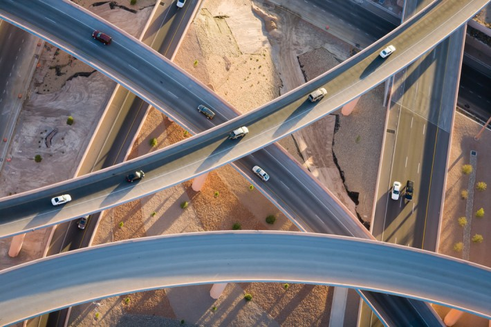 Over Ramps, Albuquerque, N.M., 2008 by Alex MacLean