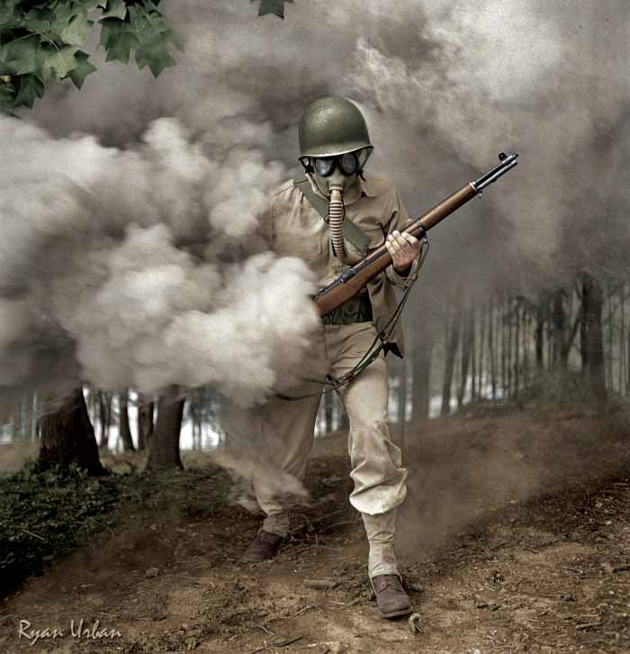 Ryan-Urban-Colorizations-Gas-Mask-WWII