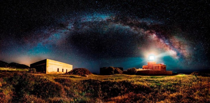 The Panoramic category winner was Ivan Pedretti, from Italy, who stitched two rows of 12 horizontal long exposure shots, depicting the Miky Way arch in southern Sardinia, to create Starry Lighthouse.