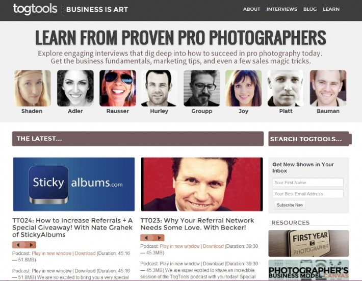 Fstoppers-TogTools-Screenshot-Podcasts-Interviews-For-Photographers