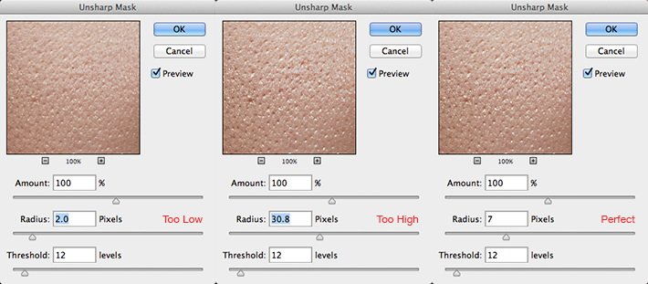 Fstoppers-Woloszynowicz-Smoothing-Skin-Texture-Bán kính-Thiết lập