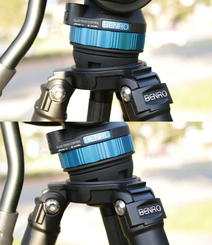 benro s8 video tripod articulating center head