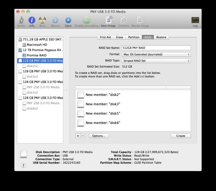 USB Key RAID Disk Utility 3