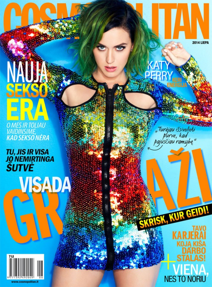 Katy Perry Cosmopolitan Lithuania